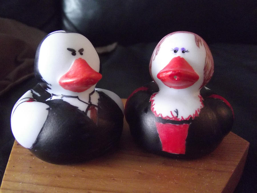 Sweeney Todd and Mrs.L Duckies by TheSimpsonsFanGirl
