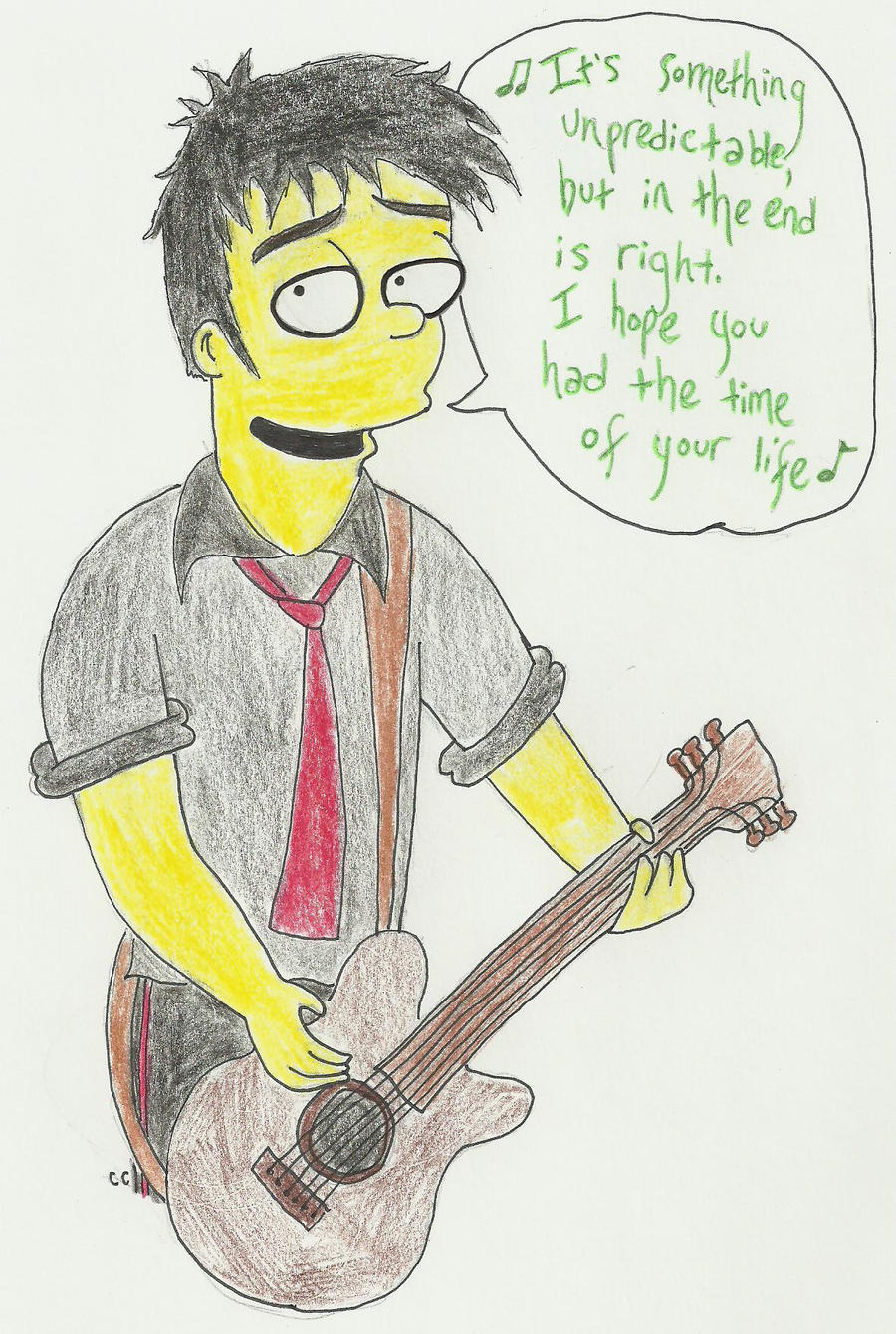 Simpsonized BeeJ Singing by TheSimpsonsFanGirl
