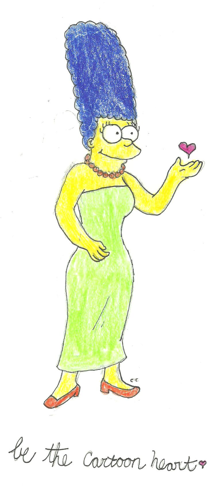 Marge Has a Cartoon Heart by TheSimpsonsFanGirl