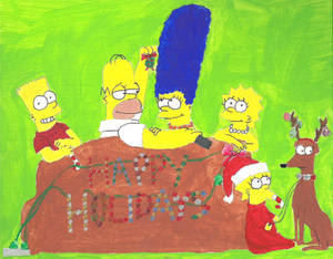 Simpsons Christmas Boogie.The Simpsons By Juliazn 13 On Deviantart