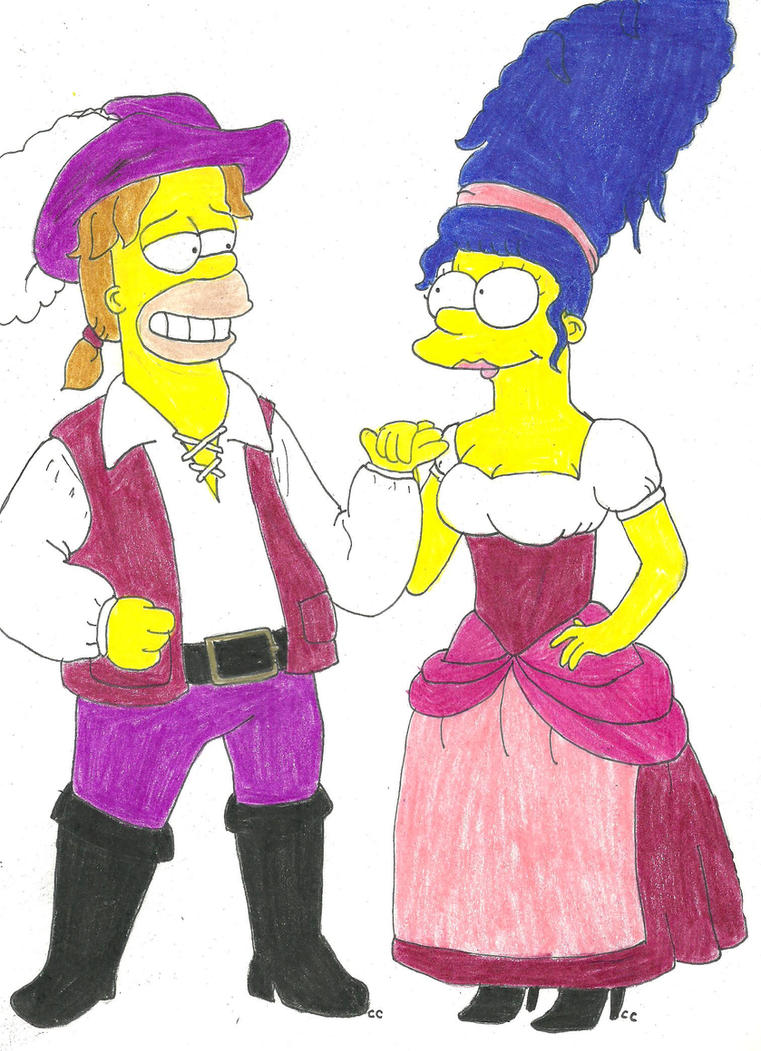High Seas Homer and Marge by TheSimpsonsFanGirl