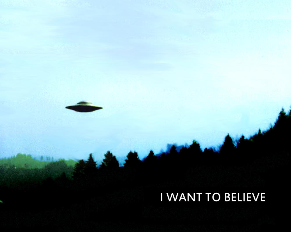 Want To Believe ...X Files I Want To Believe Poster Mulder Office