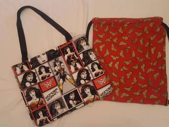 Wonder Women Bag set by Milk-Tea-Studio