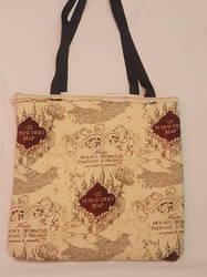 Harry Potter Marauders Map Tote Bag by Milk-Tea-Studio