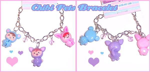 Chibi Pets Bracelet by bapity88