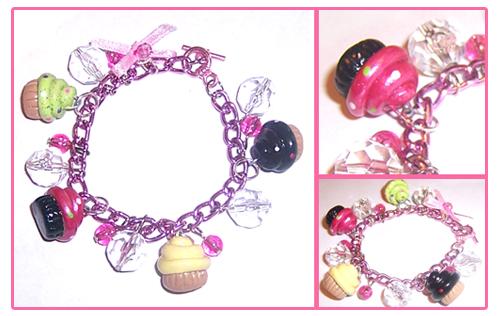 Cupcake Charm Bracele by bapity88