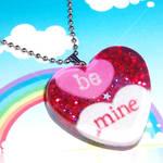 Be Mine Valentines Necklace by bapity88