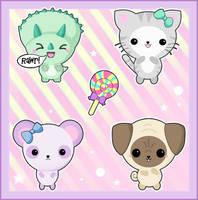 Kawaii Animals by bapity88