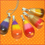 Candy Corn Resin Necklaces