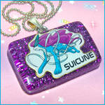 Suicune Pokemon Necklace
