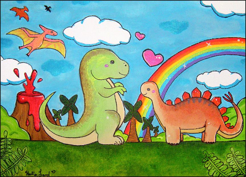 Happy Dinosaurs by bapity88