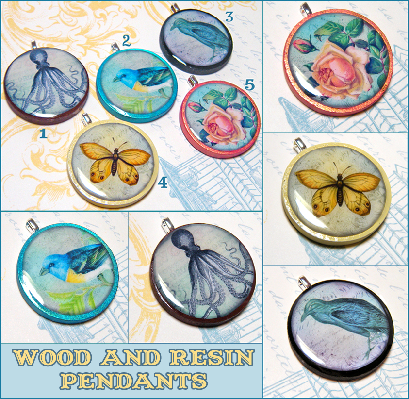 how to make wood resin pendant
