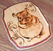 Wood burned chinchilla artwork by bapity88