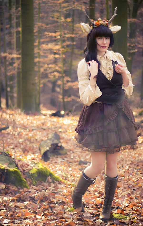 in the woods by Saki-Kisu