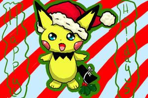 Christmas Pichu by ShushiKitty