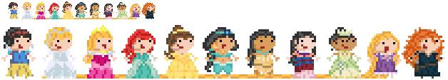 Derpy Disney Princesses by T3hTeeks