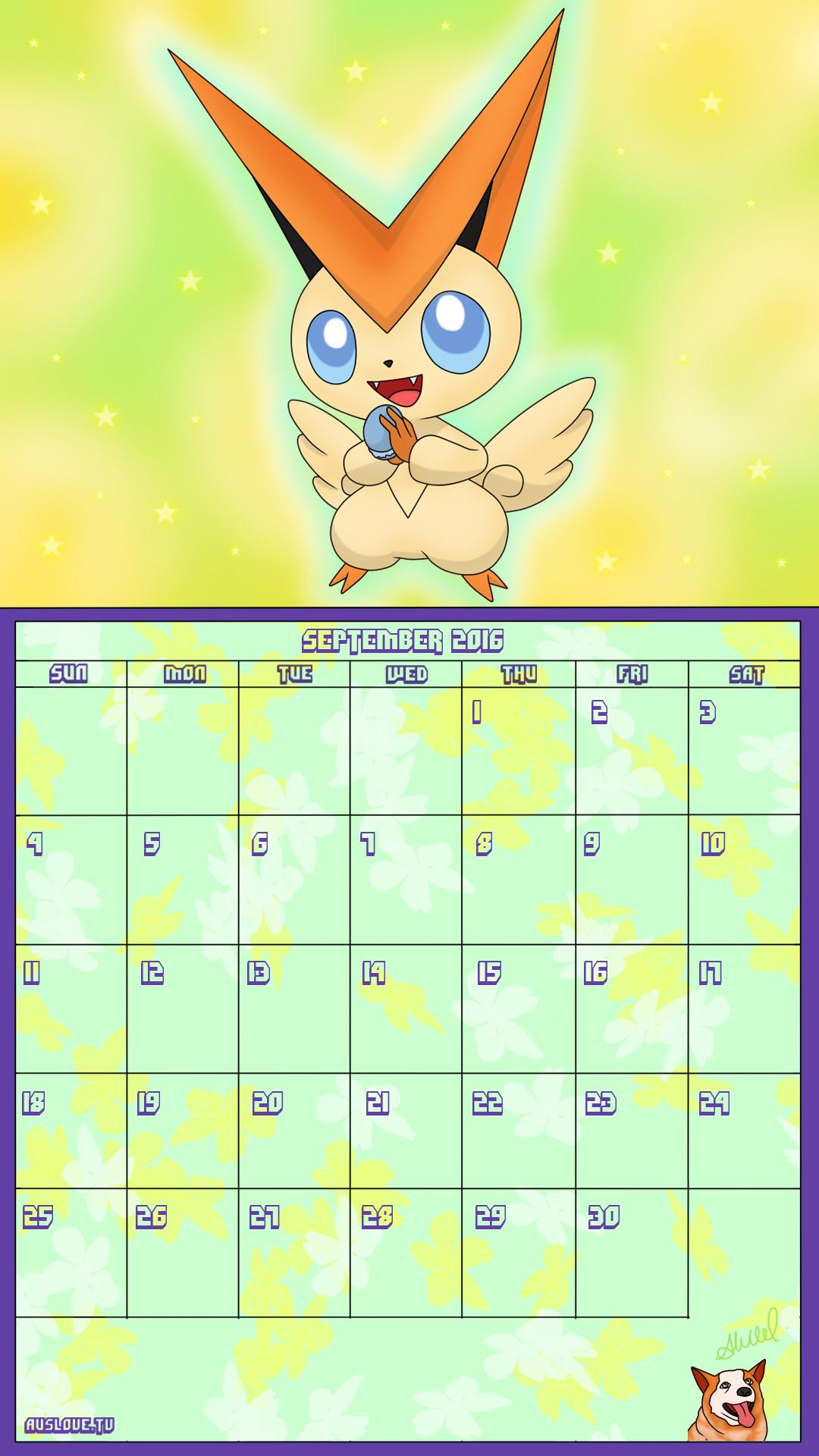 Pokemon 20th Anniversary Calender - September 2016