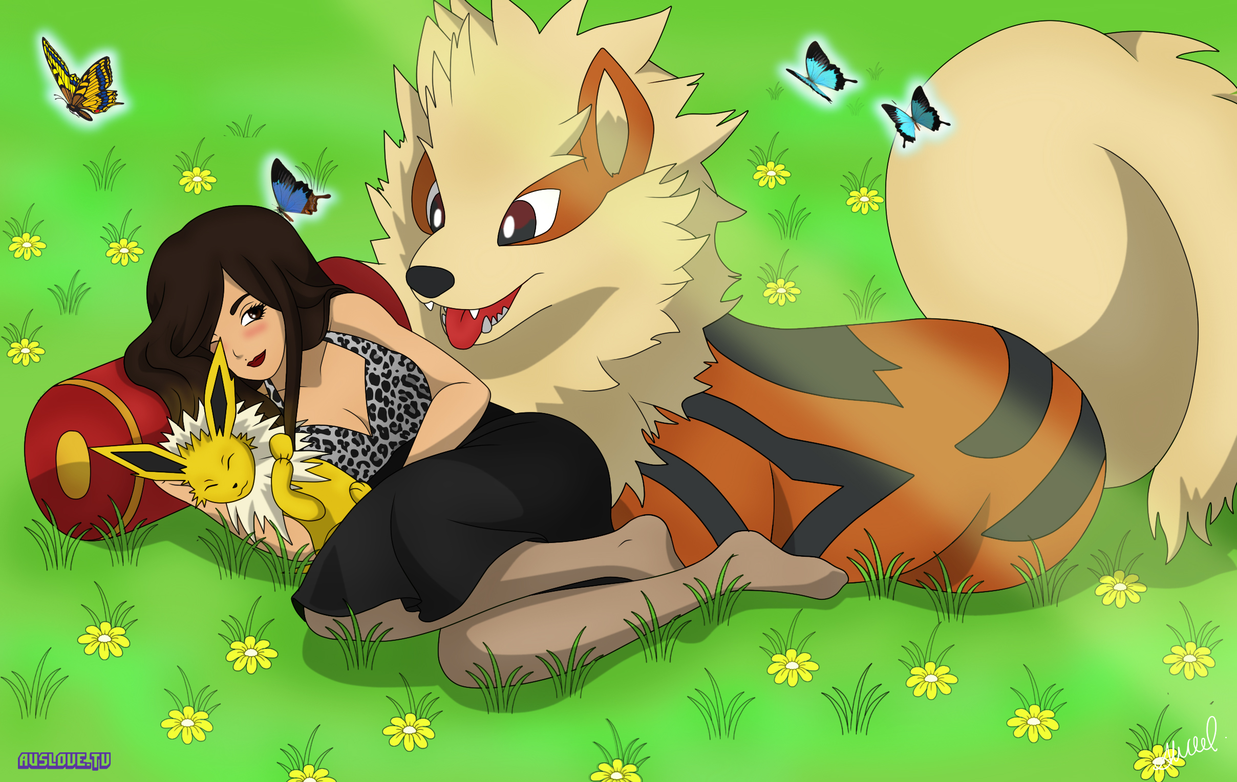 Arcanine and Jolteon - Twitch @OmgYellow by AusLove
