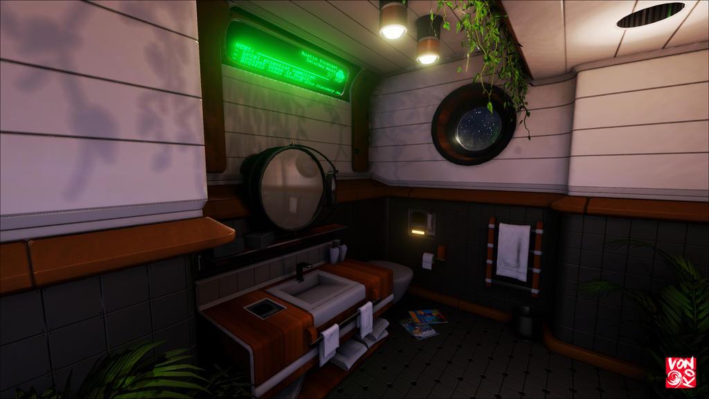 Retro-Future Bathroom by vonkoz