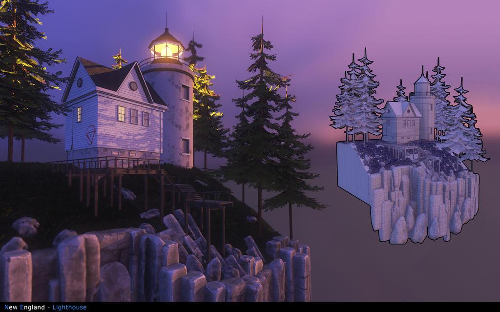 New England Lightouses by vonkoz