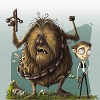 Chewie and Han by kehchoonwee