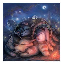 Ghibli Sleepover - colored by kehchoonwee
