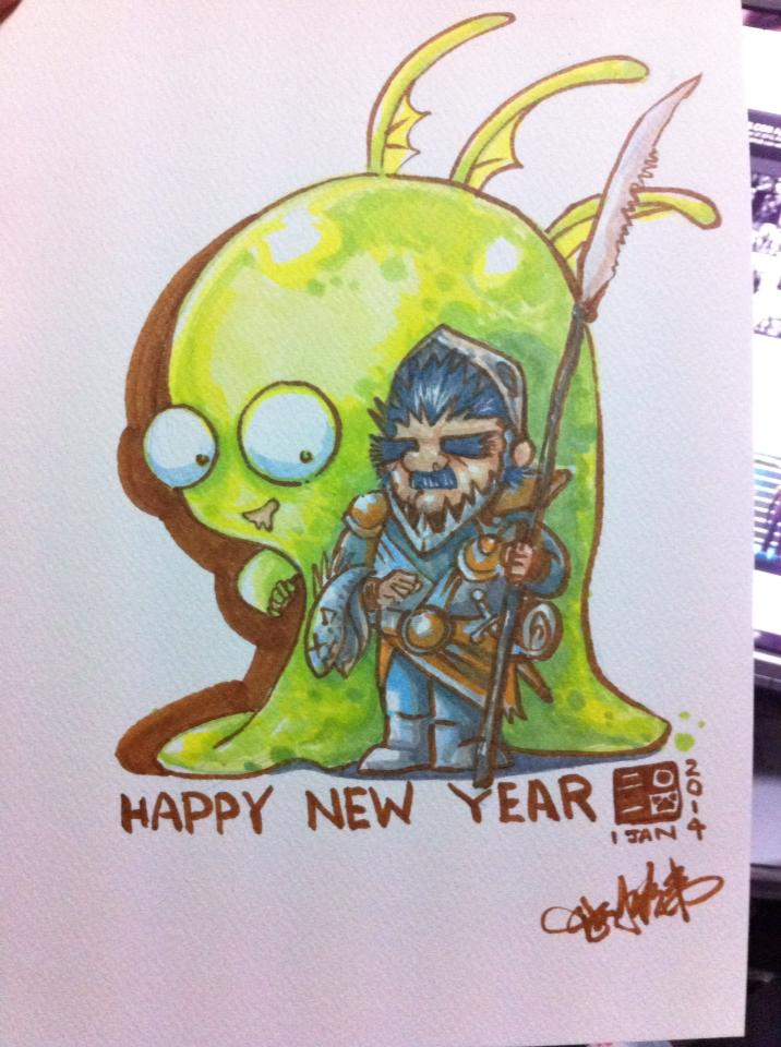 Happy New year 2014 by kehchoonwee
