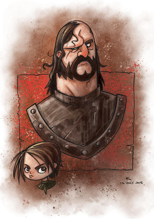 Arya and the Hound by kehchoonwee