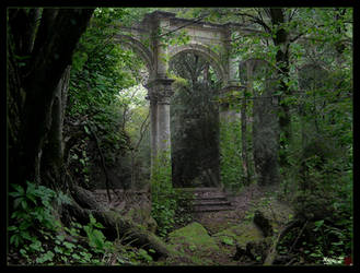 Forest Ruins by HeliusFlame