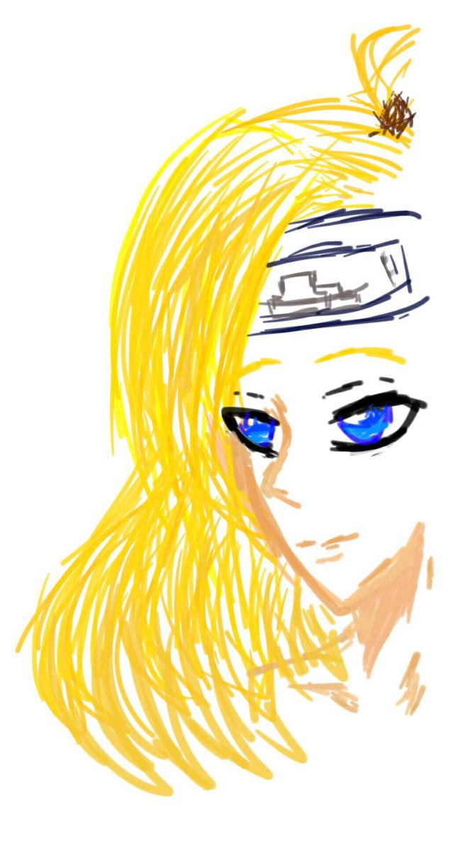 Digital Art of Deidara by Tsuchiri