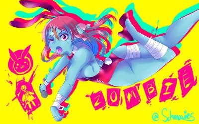 Zombie Bunny Girl Sakura by Schmavies