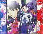 Shinji and Misato plus EVA 01