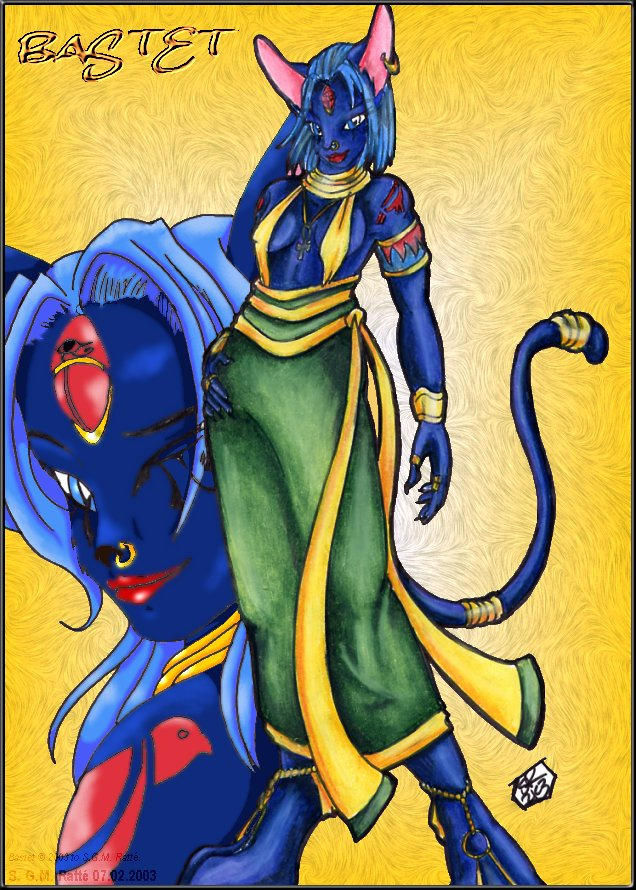 Bastet Anthroed by StephRatte