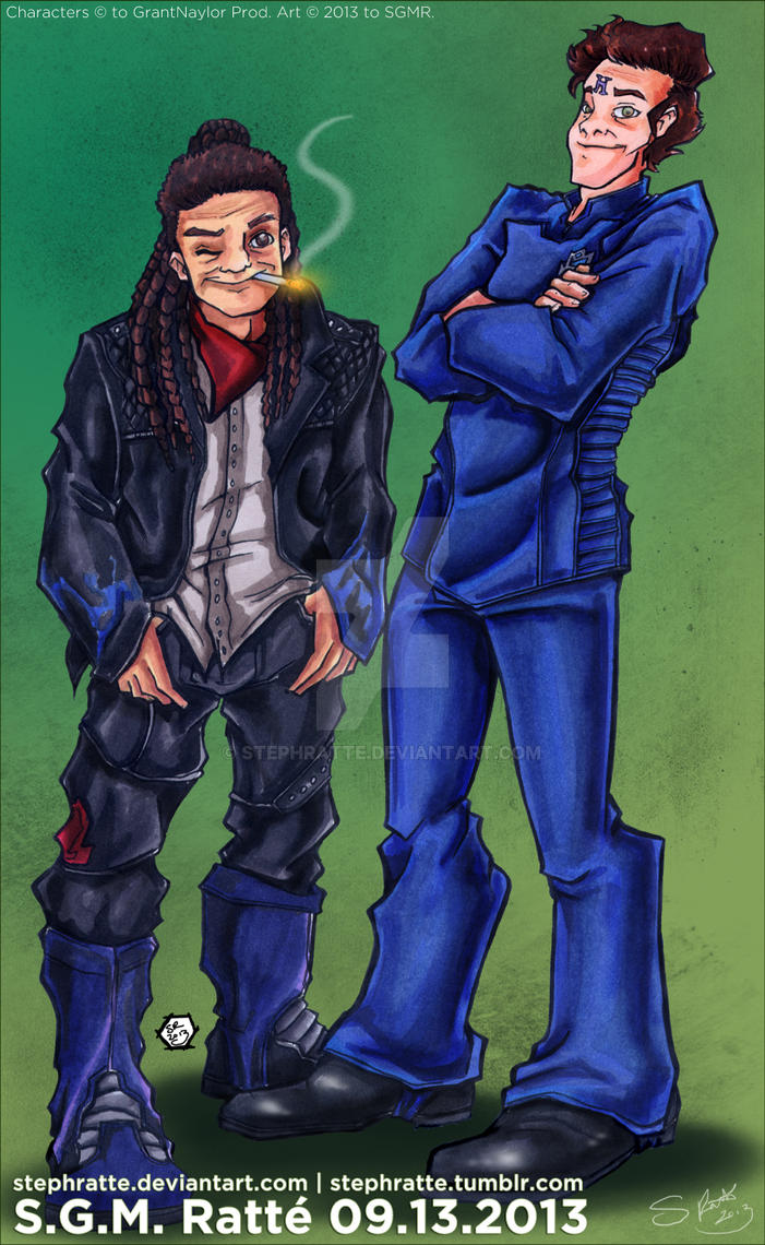 RD - :Red Dwarf X Lister and Rimmer: by StephRatte
