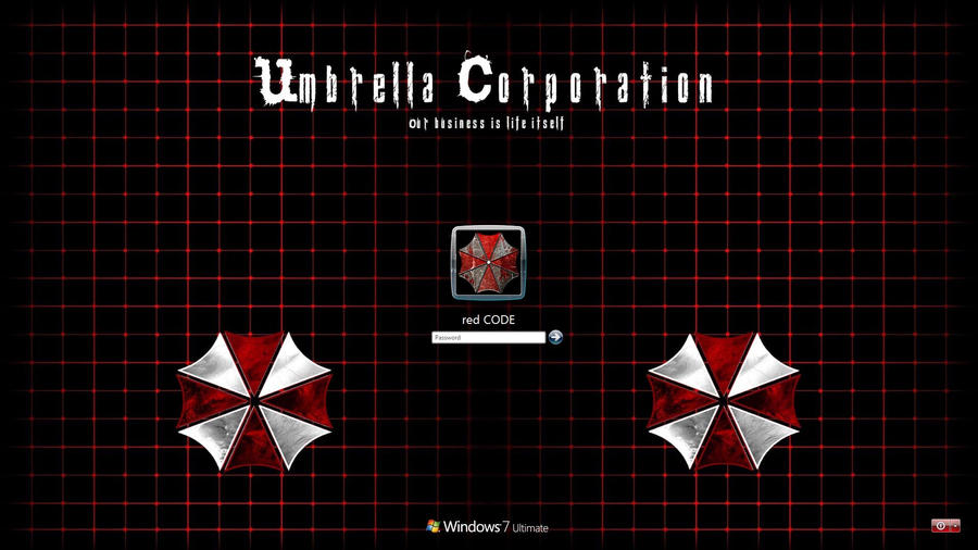 Windows 7 umbrella corp logon background by red code on deviantart windows 7 umbrella corp logon background by red code voltagebd Images
