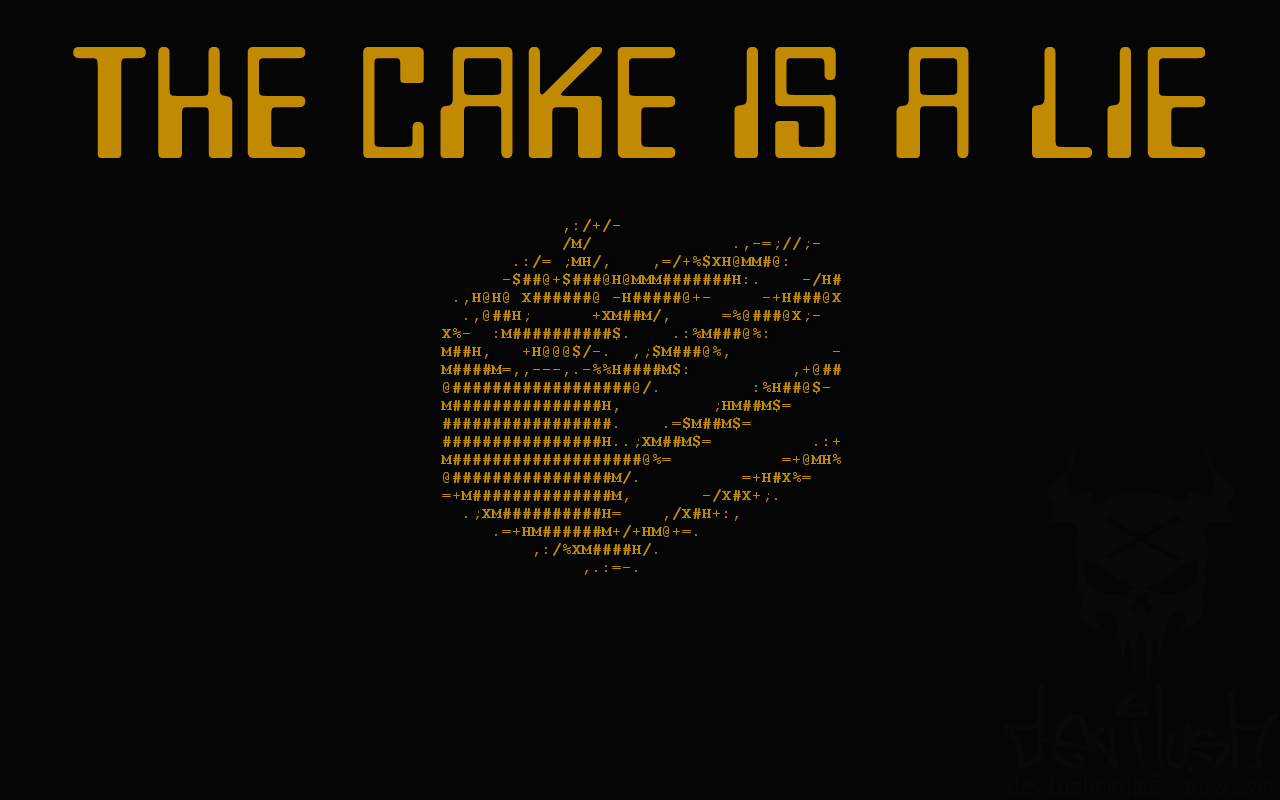 SPLATFESTS - Racially Charged Violence The_cake_is_a_lie_wallpaper_by_devilushninja