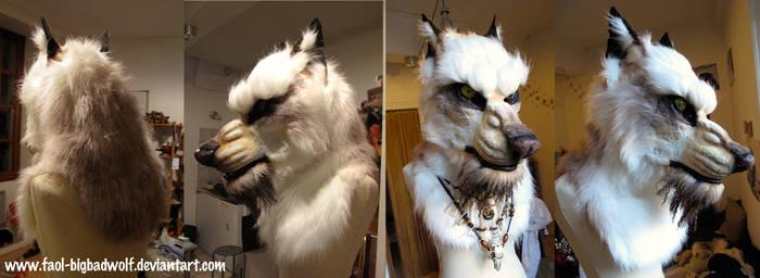 White werewolf head (SOLD)