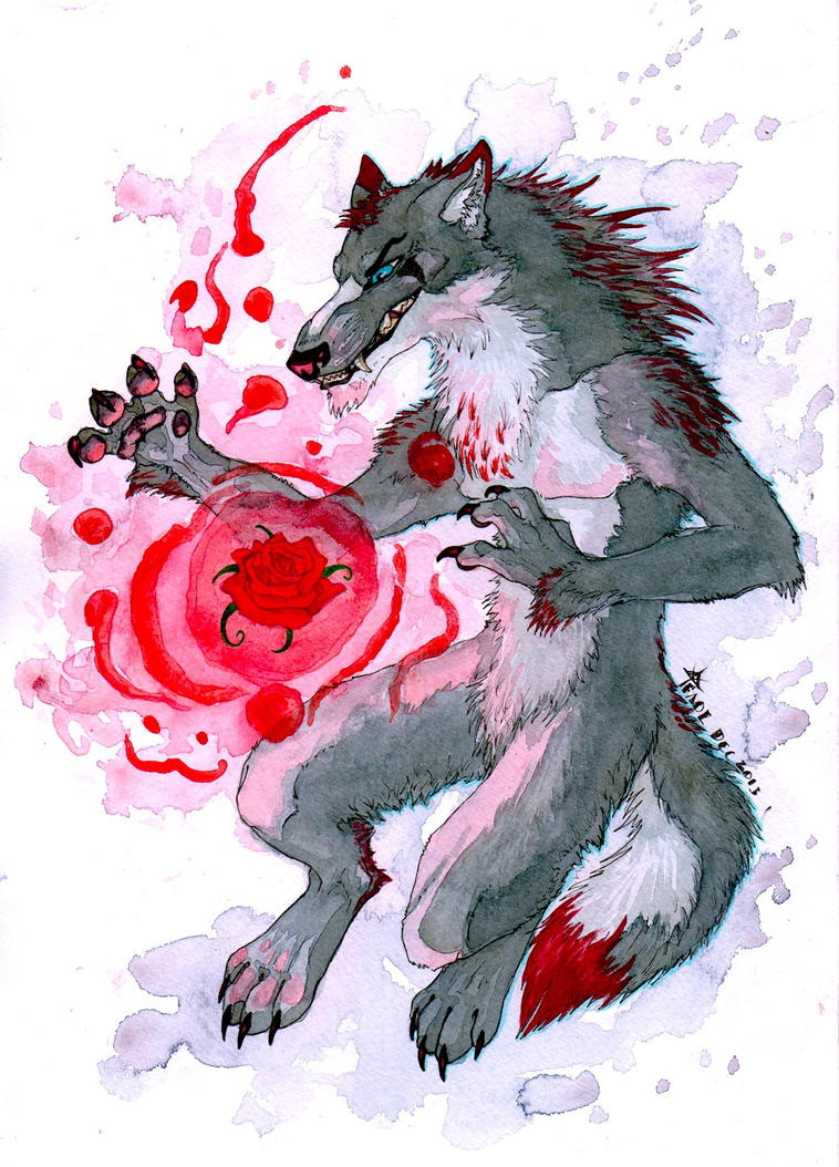Omega Bloodwolf by Faol-bigbadwolf