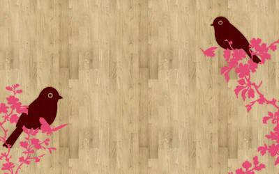 birds on wood by mae-b