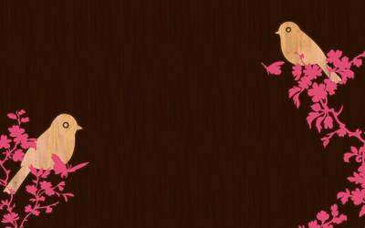 birds on wood negative by mae-b