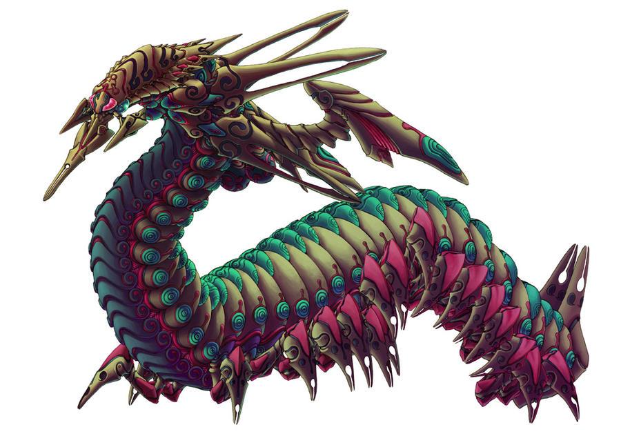 Monster of the centipede by kitakazee