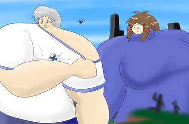 Shoulder to shoulder with enorm Mina and Tuikku by Feyzer