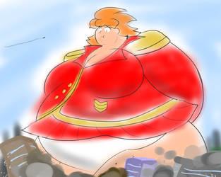 Fat Machi in Red Star Soldier Uniform plowing thru by Feyzer