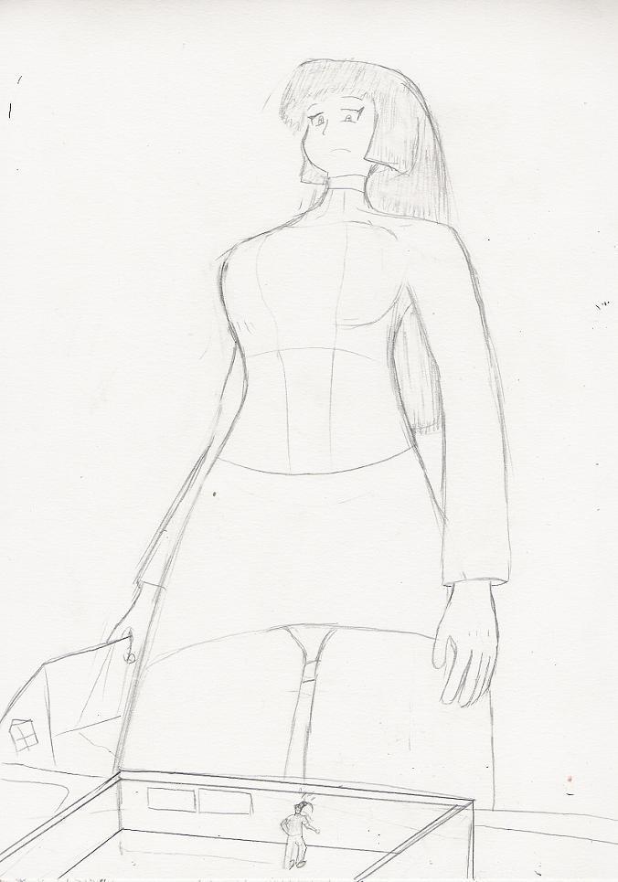 Psychic Giantess Sabrina.. by Feyzer