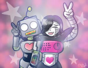 Roboton and Mettaton