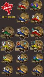 Fur-Eh! 2017 Quidditch badges
