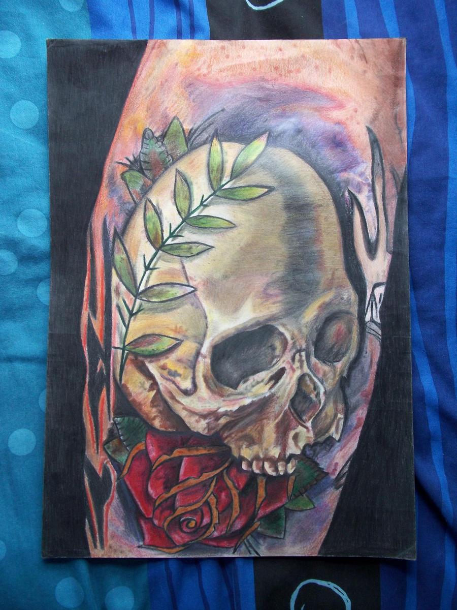 Maori Style Half Sleeve Tattoo
