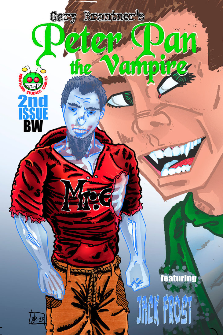 Peter Pan the Vampire 02BW Digital Cover by rentnarb