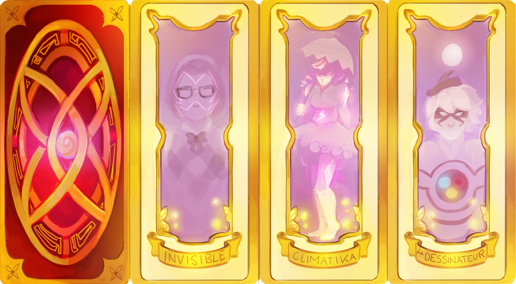 Cardcaptors AU -- Card Designs by nathengyn