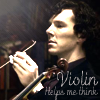 Sherlock Violin Icon by questrmwindow